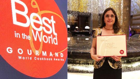 Euda Morales ganó el tercer lugar en los Gourmand World Cookbook Awards 2018