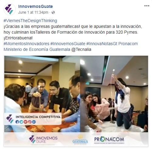 Innovemos Guate capacita 320 empresas en Guatemala