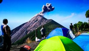 Campamento en el volcán Acatenango | Enero 2019
