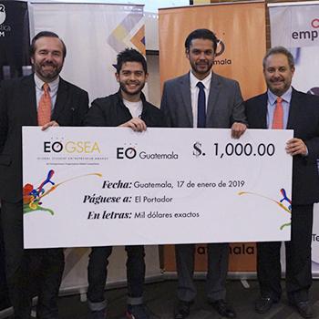Ganador del Concurso del Estudiante Universitario Emprendedor 2019 Guatemala