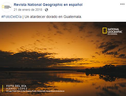 Imagen de fotógrafo guatemalteco fue publicada en National Geographic