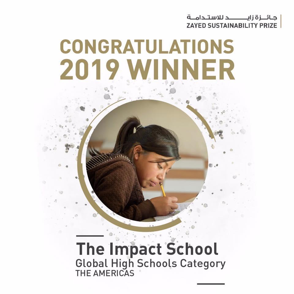 Instituto de nivel básico en Sololá ganó el Premio a la Sostenibilidad Zayed 2019