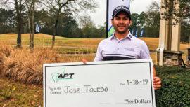 José Toledo ganó primer lugar en el Lake Windcrest Championship 2019