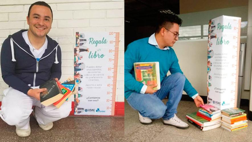 Recaudan libros en la USAC para crear rincones de lectura en escuelas de Guatemala