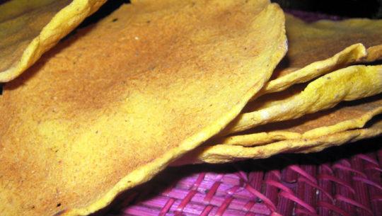Receta para hacer los totopostes guatematecos