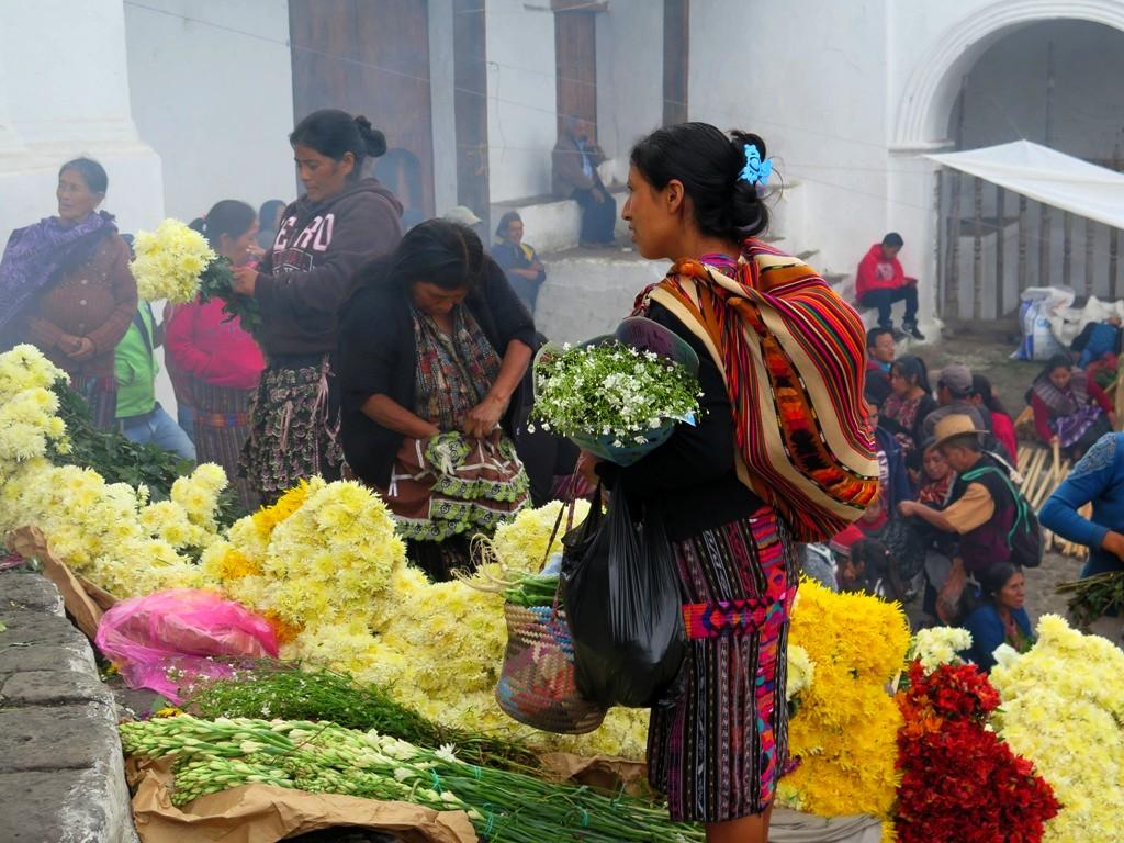 mercado de Chichicastenango en Quiché