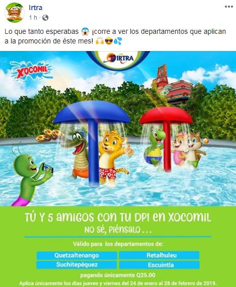 Cómo ingresar al Parque Xocomil con tu DPI en Febrero de 2019