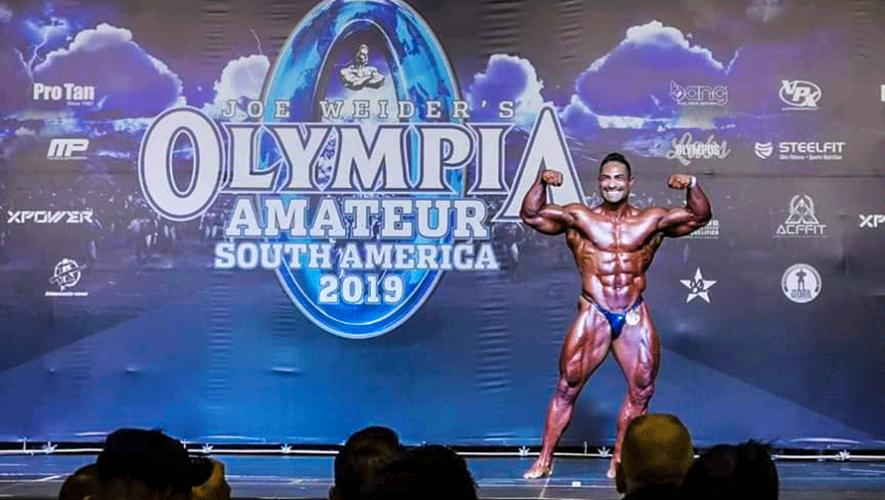 Gustavo Mazariegos sobresalió en el top 5 del Olympia South America 2019