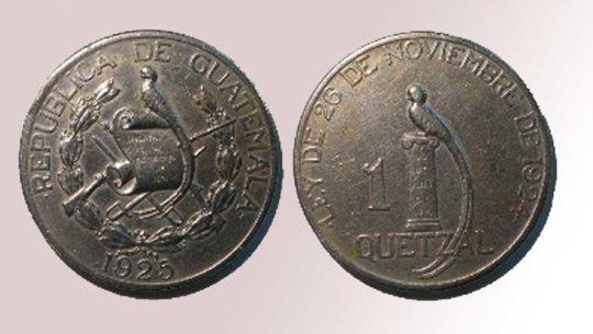 Así era la primera moneda de un quetzal, Guatemala