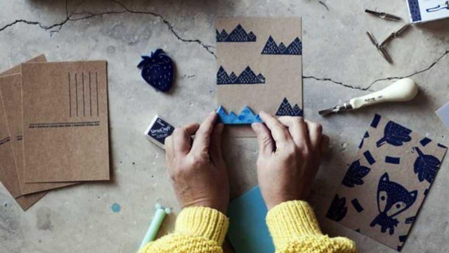 Taller de sellos y estampado sobre tela en Antigua Guatemala | Marzo 2019