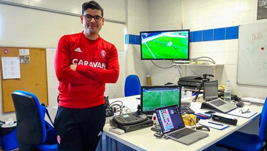 Álex Sosa, el técnico guatemalteco que sobresale en el Real Zaragoza