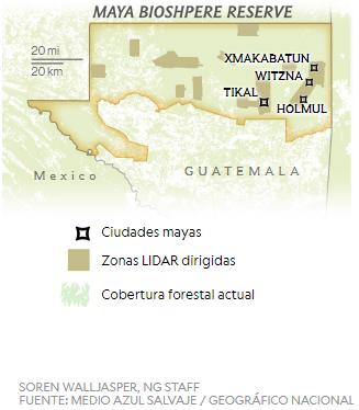 Ciudad maya en Petén