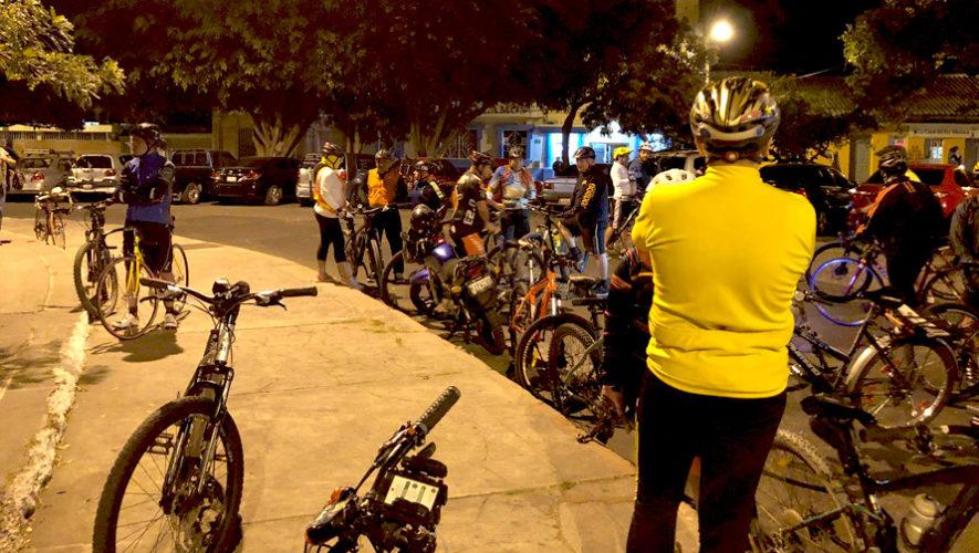 Colazo nocturno en bicicleta  en la Ciudad de Guatemala   Marzo 2019