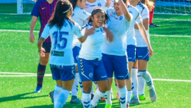 El gol que anotó Madelyn Ventura en la victoria del Zaragoza CFF ante el FC San Pere