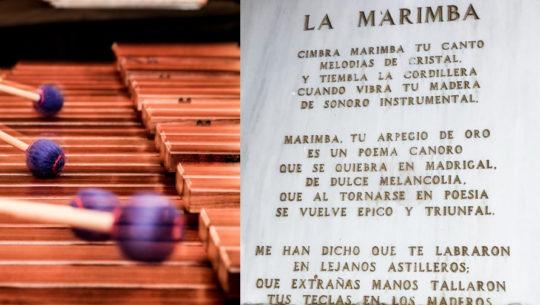 El poema en honor a la marimba que se encuentra grabado en un teatro de Guatemala