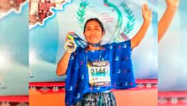 Medios internacionales destacaron la hazaña de Maria Tun en la Maratón de Los Ángeles 2019