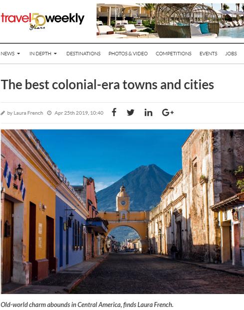 Antigua Guatemala es uno de los mejores pueblos y ciudades de la época colonial