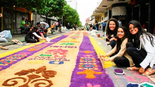 Convocatoria de voluntarios para elaborar la alfombra del Paseo de la Sexta en abril 2019