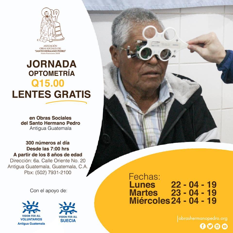 Jornada de optometría a bajo costo en Antigua Guatemala