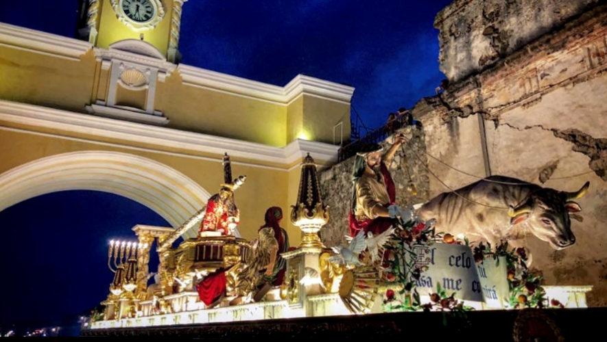 Recorrido procesional de Jesús Nazareno de La Caída, Antigua Guatemala | Semana Santa 2019