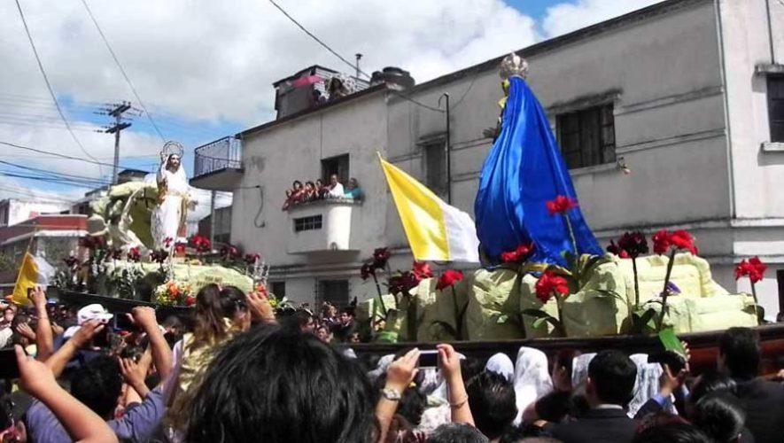 Recorrido procesional de Jesús Resucitado y Virgen de la Alegría, El Calvario | Semana Santa 2019