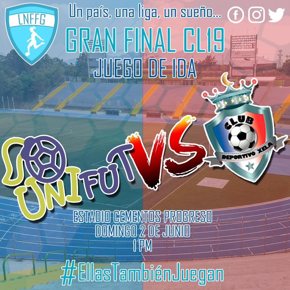 Cuándo se juega la final Unifut-Rosal vs. Deportivo Xela