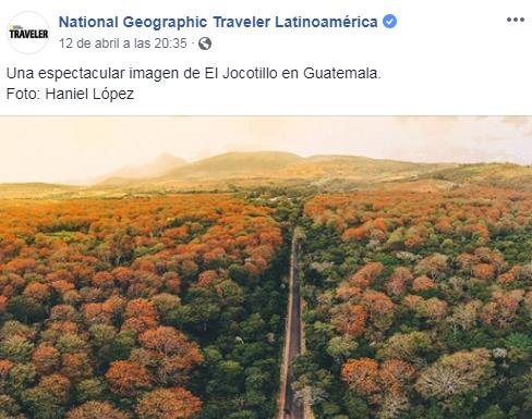 Foto de El Jocotillo fue destacada por National Geographic