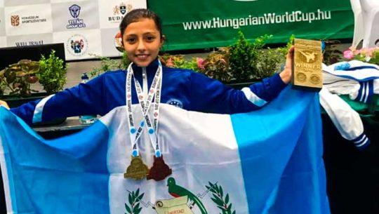 Guatemala se llevó 24 medallas de la Copa Mundial de Kickboxing Hungría 2019