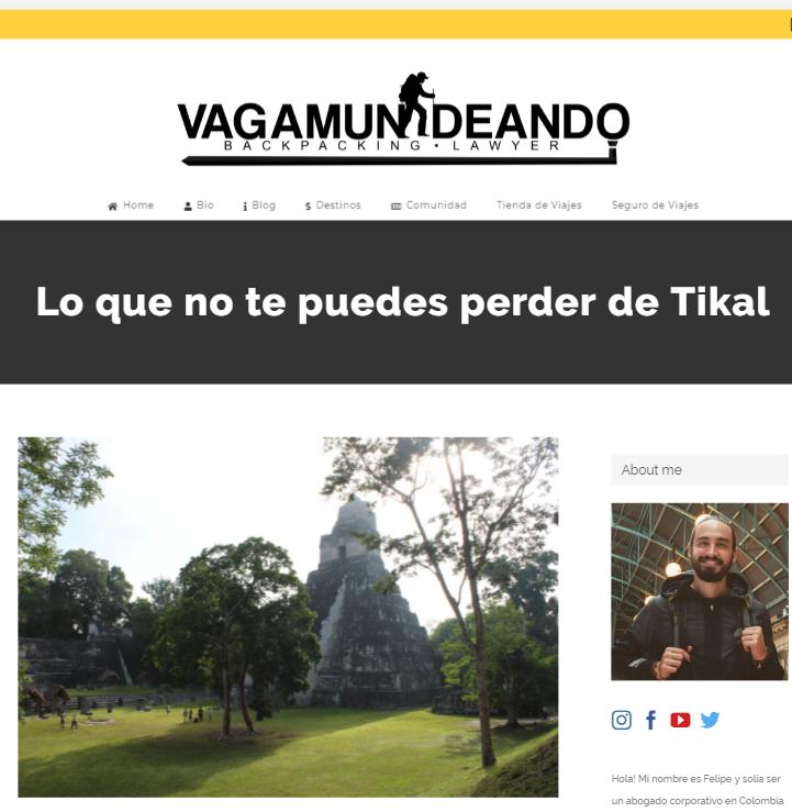 Lo que no te puedes perder del Parque Nacional Tikal, según Vagamundeando