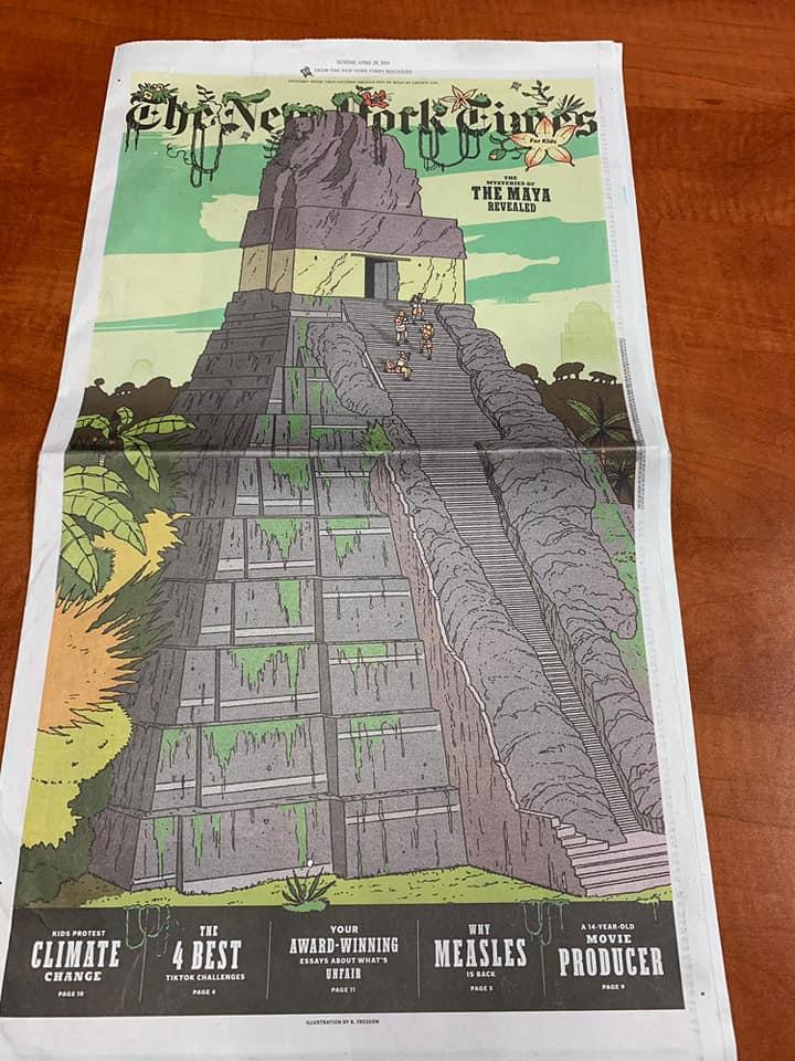 Los misterios revelados de los Mayas en Tikal en edición especial de The New York Times