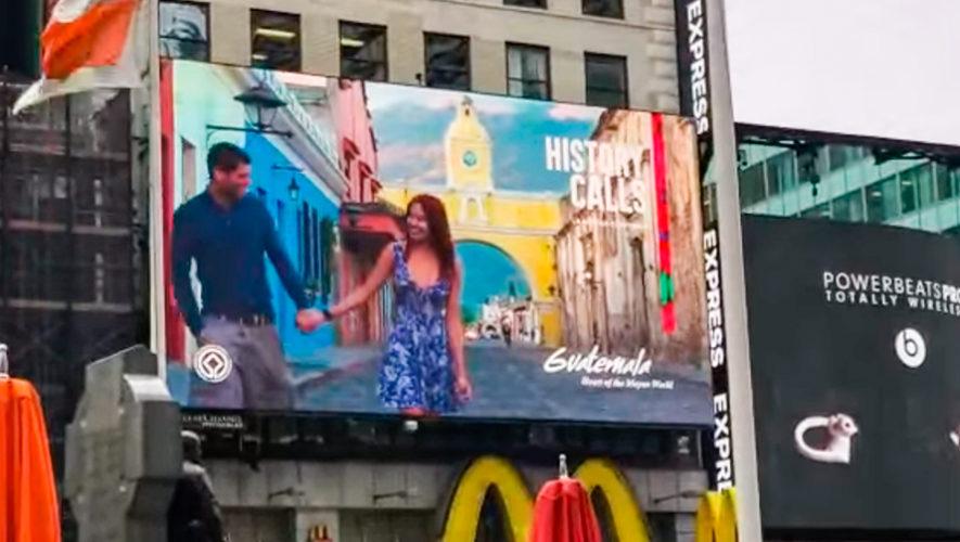 Lugares turísticos de Guatemala se promocionan en el Times Square, Nueva York