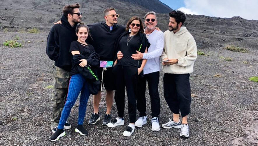 Ricardo Montaner y su familia visitaron lugares turísticos de Guatemala