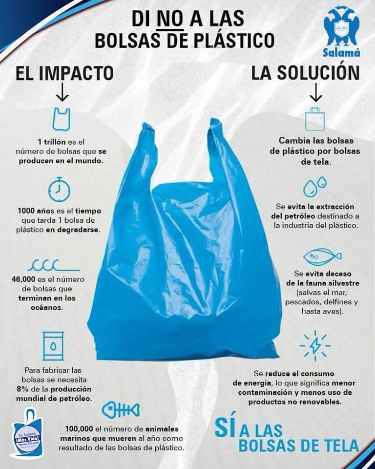 Salamá, Baja Verapaz, ya no utilizará bolsas plásticas, pajillas y duroport