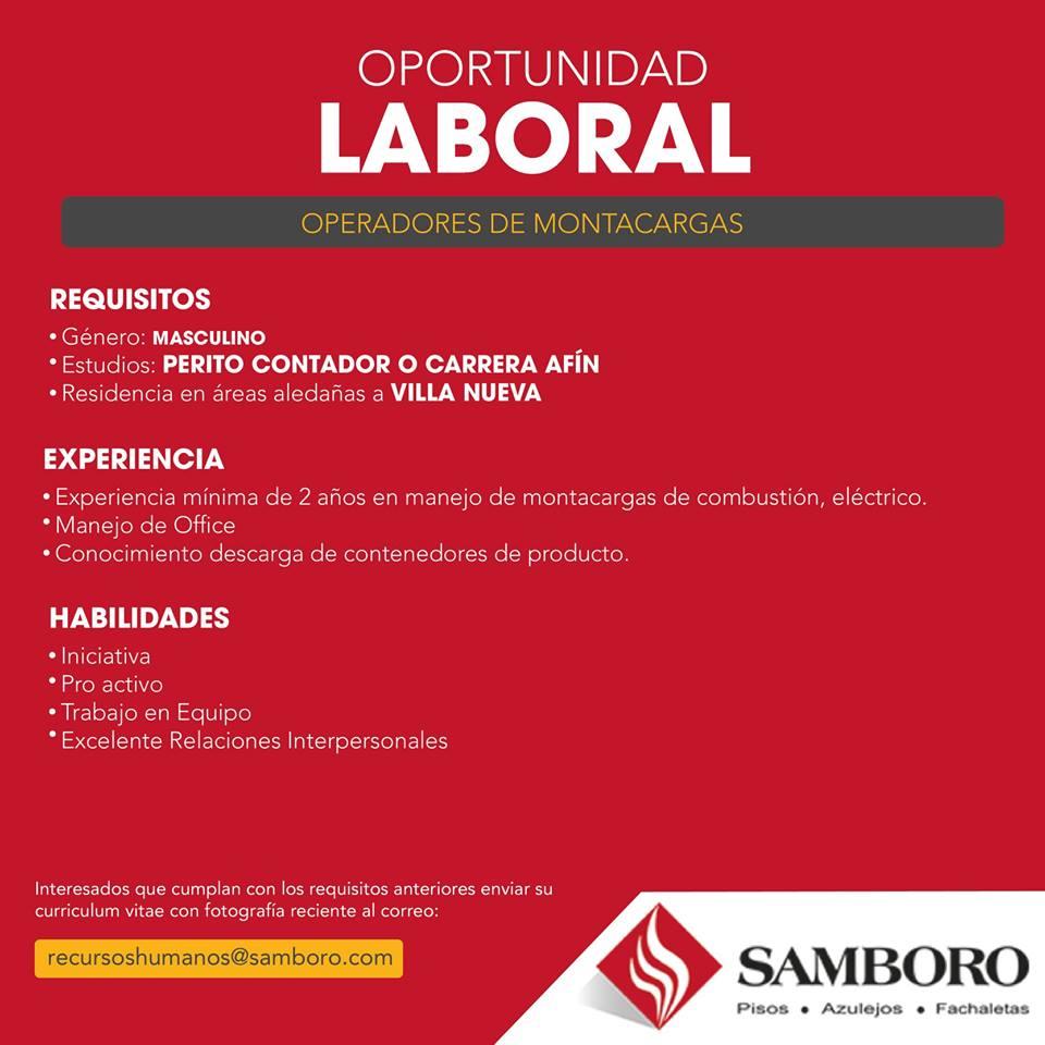 Trabajo disponible guatemaltecos