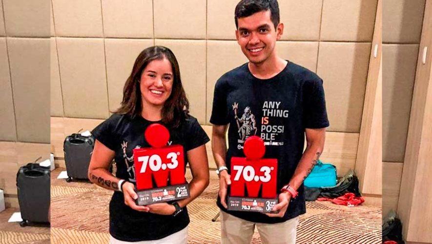 Triatletas de Guatemala subieron al podio en el Ironman 70.3 Monterrey 2019