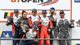 Andrés Saravia subió al podio en el Spa Francorchamps del International GT Open 2019