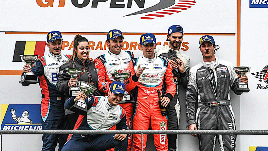 Andrés Saravia subió al podio en el Spa Francorchamps del International GT Open 2019