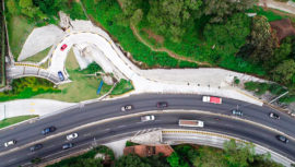 Inauguran paso a desnivel en el kilómetro 9.5 de Carretera a El Salvador