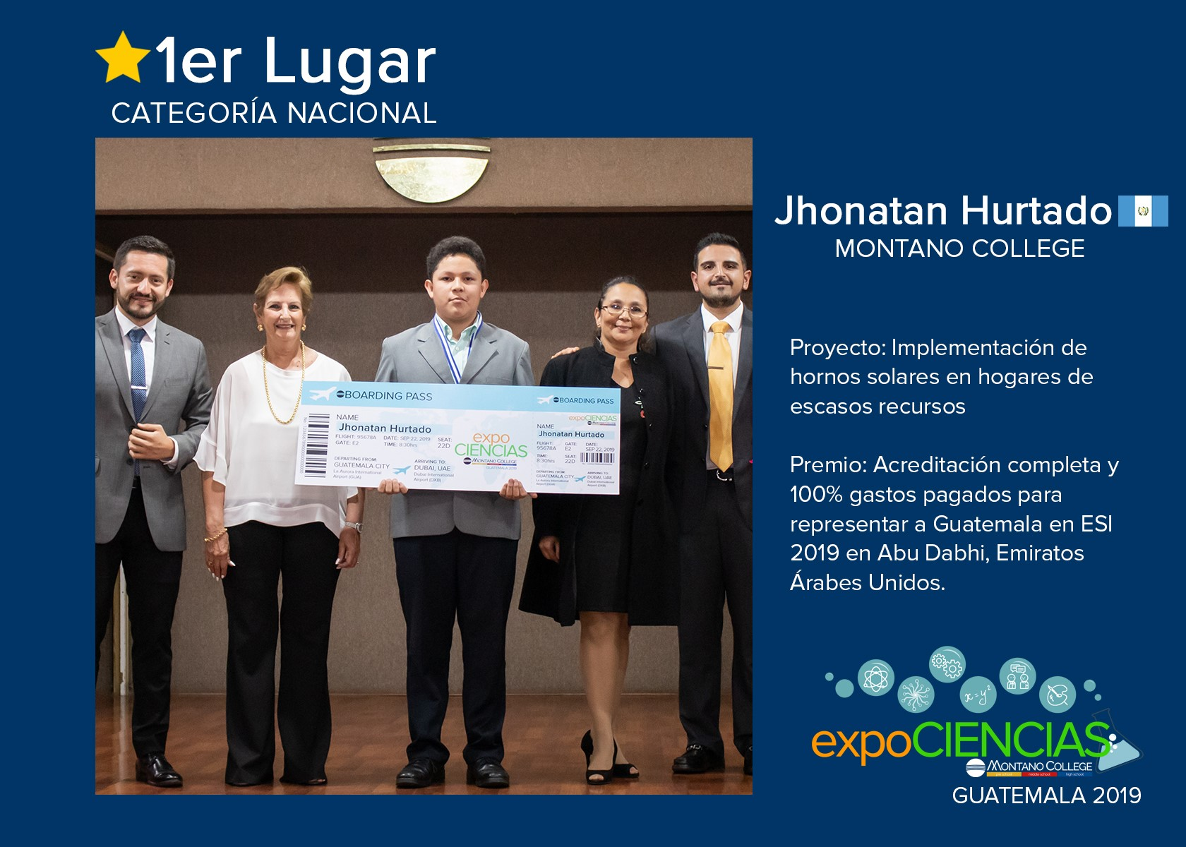 Jhonatan Hurtado representará a Guatemala en Esi2019 Abu Dhabi, Emiratos Árabes Unidos