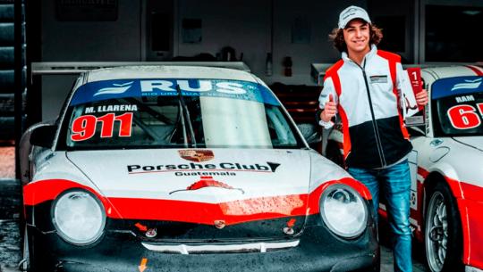 Mateo Llarena fue el mejor novato en el serial Porsche GT3 Cup Trophy 2019 en Uruguay