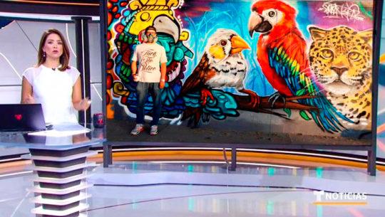Murales hechos por artistas guatemaltecos destacaron en programa de Telemundo