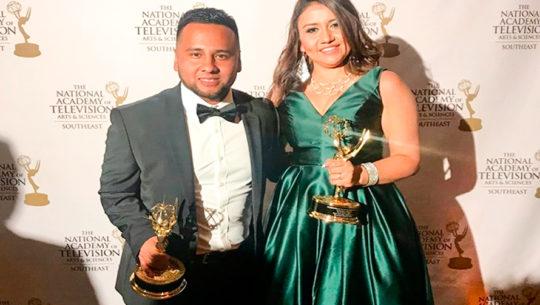 Oseas Marroquín ganó en dos categorías de los Premios Emmy del Sureste 2019