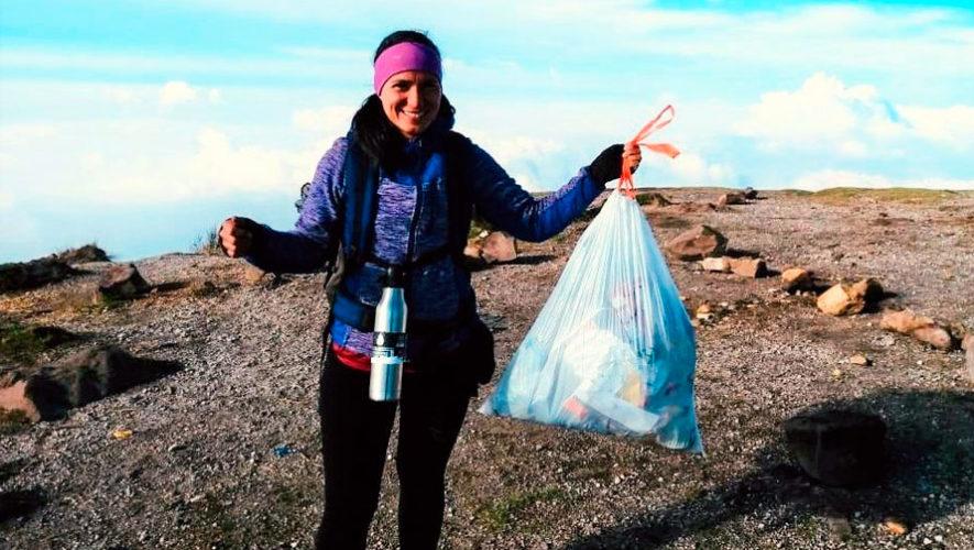 Plogging: colecta de basura en el Volcán Santa María | Julio 2019