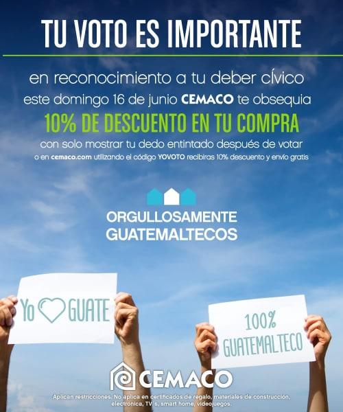 Promoción elecciones Guatemala