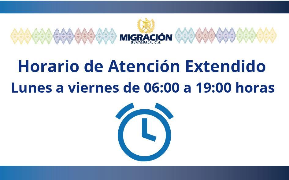 Amplían horario de atención en la Dirección General de Migración de Guatemala, julio 2019