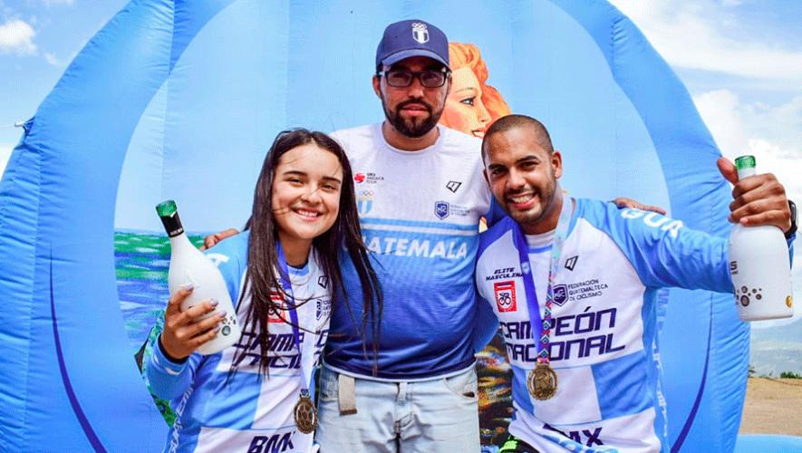 Andrea González y Sergio Marroquín, ganadores del Campeonato Nacional de BMX 2019