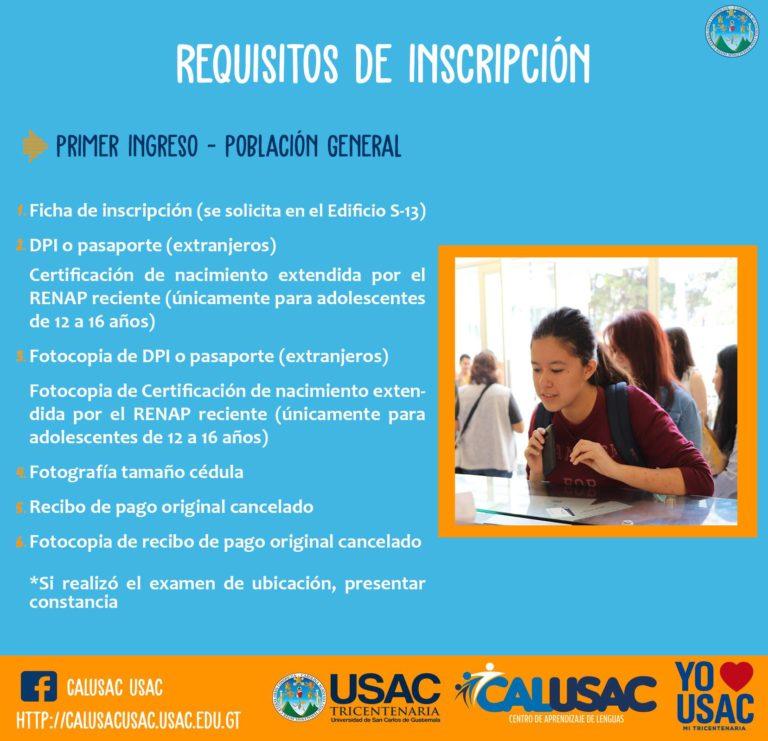 Cómo inscribirse en Calusac Online