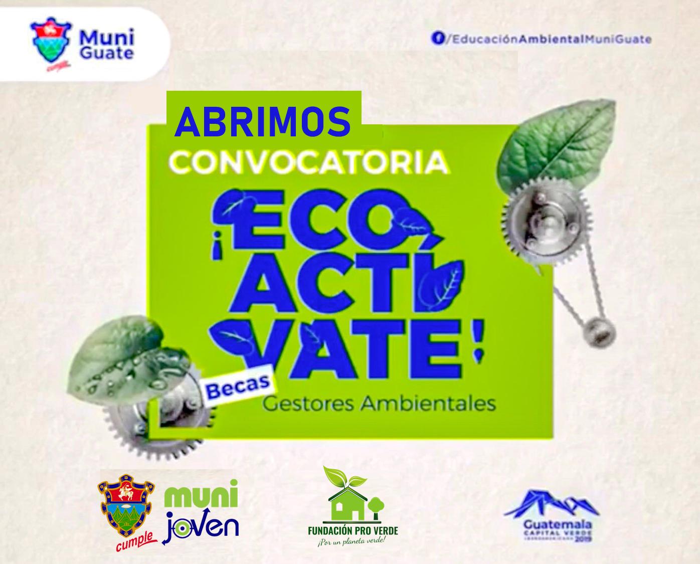 Convocatoria de becas Gestores Ambientales 2019 en la Ciudad de Guatemala