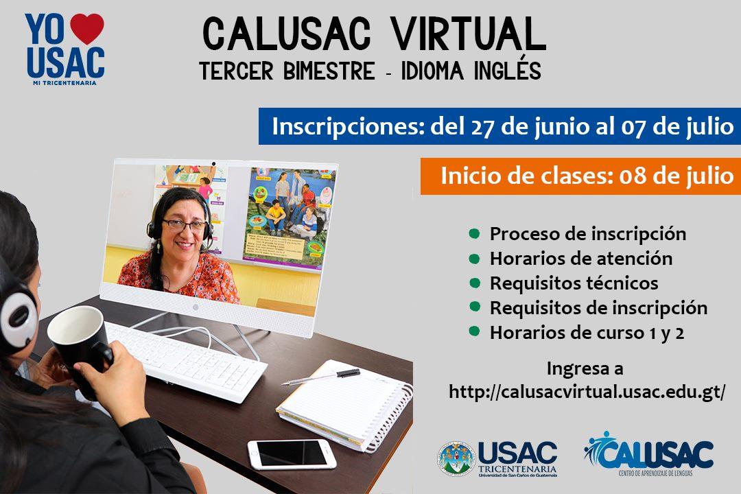Fechas para las inscripciones de Calusac Online en julio 2019