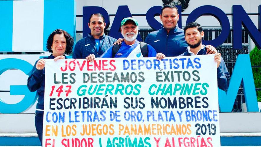Felipe Flores elaboró un cartel para la delegación guatemalteca
